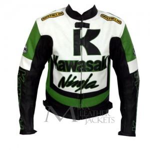 Kawasaki Ninja Motorcycle Racing Leather Jacket