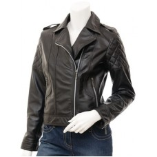Marx Ladies Biker Leather Jacket