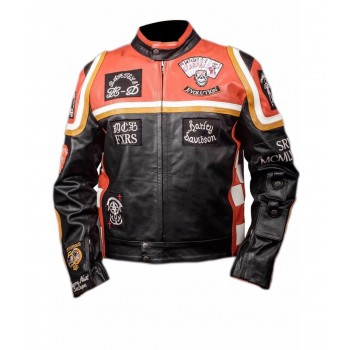 Harley Davidson Mickey Rourke Biker Leather Jacket