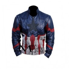 Captain America Infinity War Leather Jacket Waxed