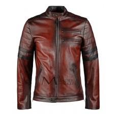 Hybrid Vintage Style Leather Jacket