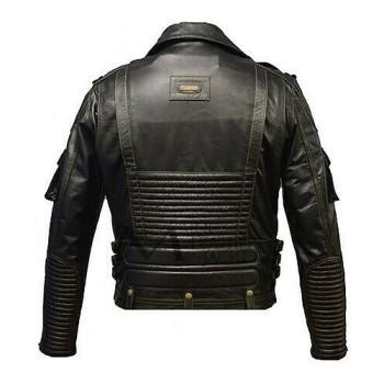Men Genuine Cowhide Premium Leather Motorcycle Biker Top Leather Jacket