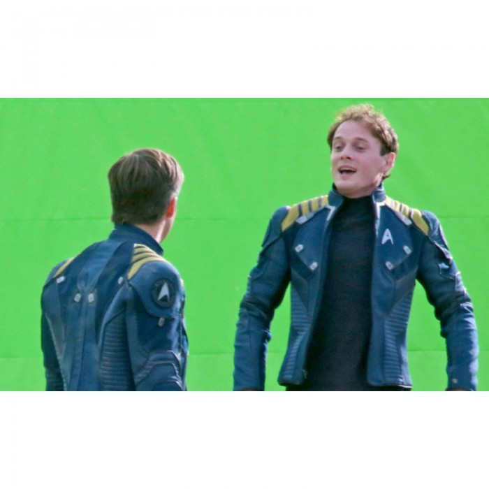 07903c690 Chris Pine Star Trek Beyond Blue Leather Jacket