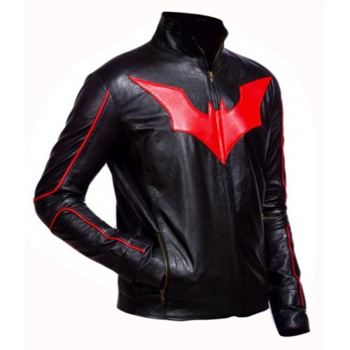 Batman Beyond Red and Black Leather Jacket