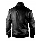 Marx Chameleon Zip Off Black Bomber Men Leather Jacket
