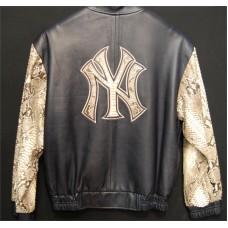 G Gator NY Snake Sleeve Baseball Jacket