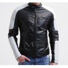 Marx Black White Leather Jacket