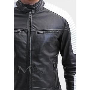 Marx Black White Leather Jacket