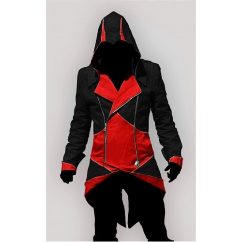 Assassin's Creed 3 Connor Kenway Black-Red Faux Jacket Costume