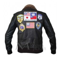Top Gun Tom Cruise (Maverick) Bomber Flight Jacket With Patches