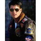 Top Gun Tom Cruise (Maverick) Bomber Flight Jacket With Patches