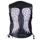 DARYL DIXON ANGEL WINGS LEATHER VEST JACKET