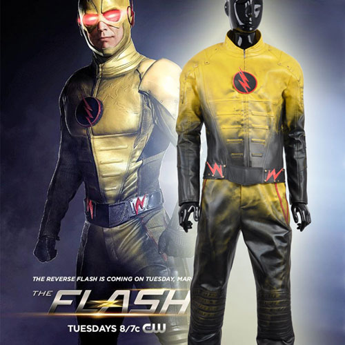 Eobard Thawne The Reverse Flash Yellow Leather Costume