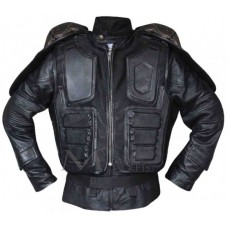 Judge Dredd Karl Urban Black Leather Jacket