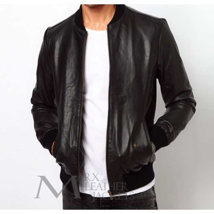 Marx Selected Baseball Leather Jacket - Marx Leather Jackets