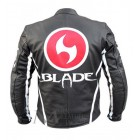 Blade Trinity Men's Black Biker Leather Jacket