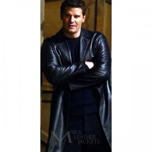 Angel Black David Boreanaz Leather Trench Coat