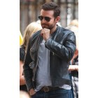 Stylish Bradley Cooper Fashionable Biker Real Leather Jacket