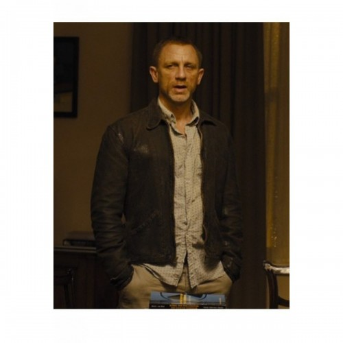 Skyfall (Daniel Craig) James Bond Brown Leather Jacket