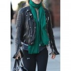 Ali Larter Quilted BIker Black Jacket