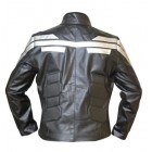 Captian America Winter Inspired Black Leather Jacket
