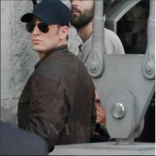 Chris Evans Captain America Civil War Brown Jacket