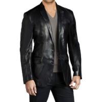 Men Leather Blazer Slim fit Coat Designer Jacket