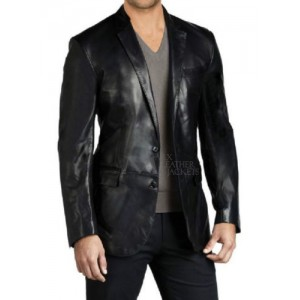 Men Leather Blazer Slim fit Coat Designer Jacket