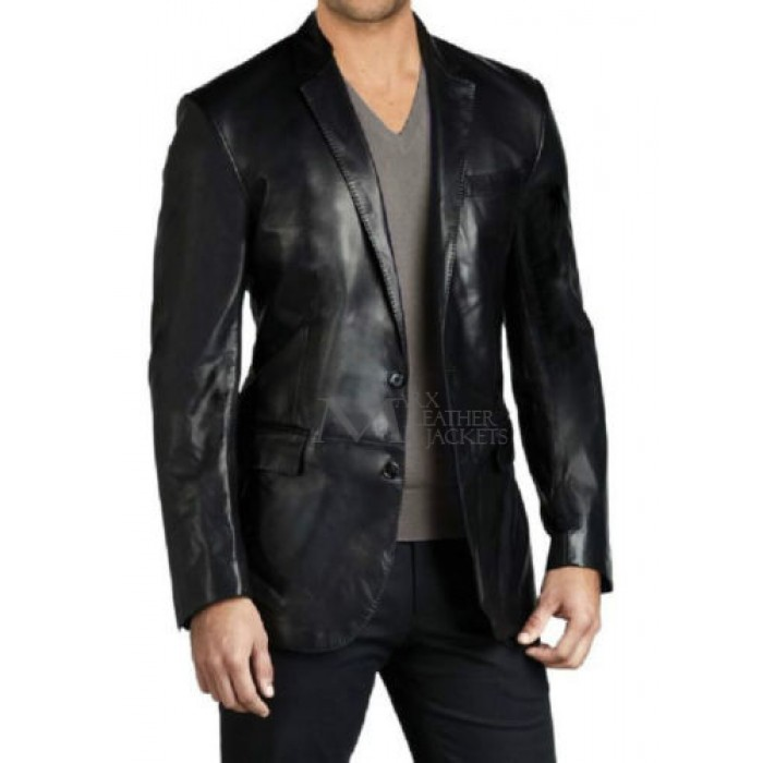 Men Leather Blazer Slim fit Coat Designer Jacket | Men Leather Blazers