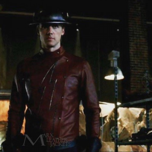The Flash Season 2 Jay Garrick Cosplay Costume Jacket