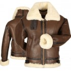 Marx Shearling Bomber Brown Leather jacket