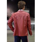 FightClub Brad Pitt Red Leather Jacket