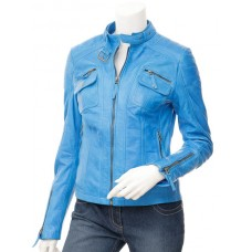 Marx Women Biker Leather Jacket
