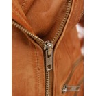 Marx Ladies Tan Biker Leather Jacket