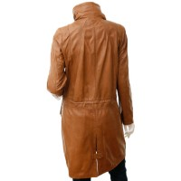 Marx Leather Jacket Ladies Tan Parka