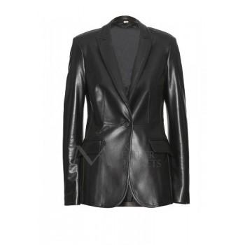 Captain America Scarlett Johansson Jacket Real Leather