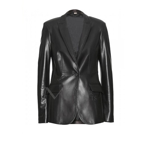 Captain America Scarlett Johansson Jacket Real Leather