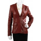 Marx Black Leather Blazer For Women