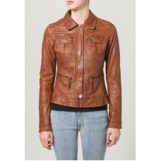 Marx Brown Women Leather Jacket