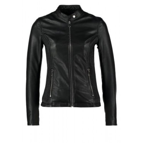 Marx Edgy Leather Jacket Black