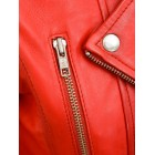 Marx Ladies Red Biker Leather Jacket Toronto