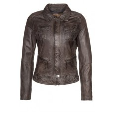 Marx Scott Grey Leather Jacket