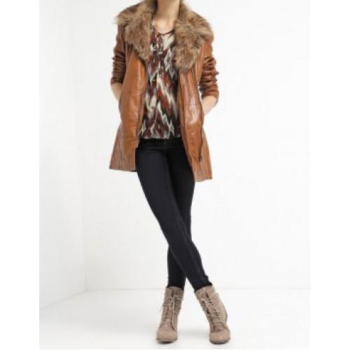 Marx Cognac Chanl Leather Jacket