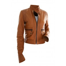 Marx Camel Brown Slim Fit Motorcycle Leather Jacket