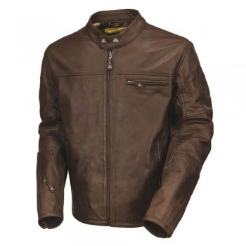 The Cafe Racer Brown Leather Jacket