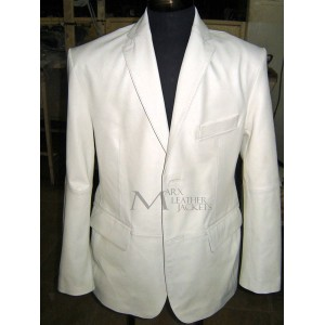 Marx Royale White Leather Blazer