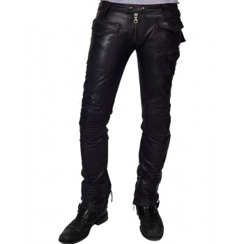 Vintage Moto Lambskin Leather Pant