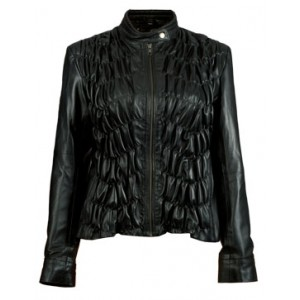 Marx Blossom Extravaganza Black Women Leather Jacket